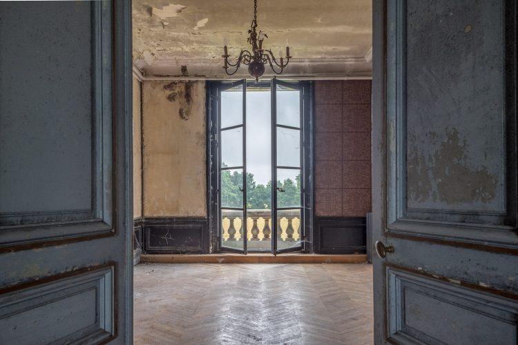 """Aluminium schilderij """"Openslaande deuren"""" van Celina Dorrestein"""