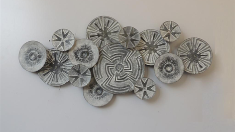 "Metalen wanddecoratie ""Tribal"""