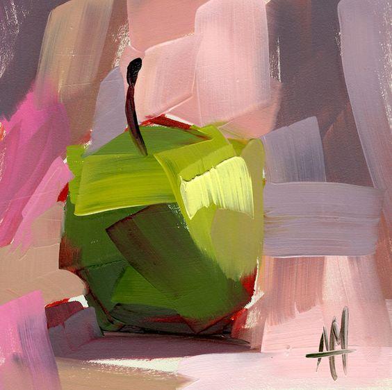 "Schilderij ""Groene appeltjes"""