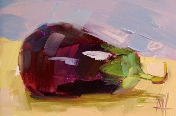 "Schilderij ""Aubergine"""