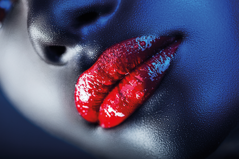 Close up red lips