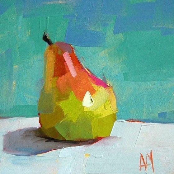 """Schilderij """"Kleurrijk peertje"""""""