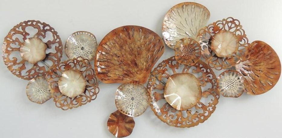 Wanddecoratie schelpen 1659 65x140 cm A63
