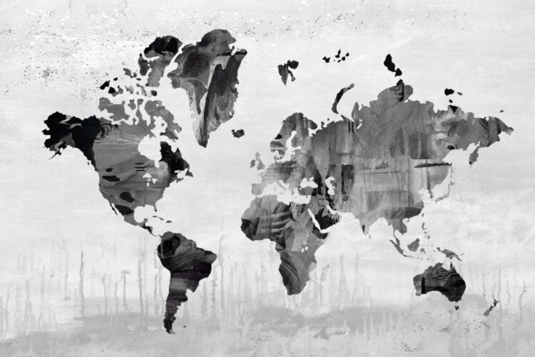 """Schilderij """"Wereldkaart pon"""""""