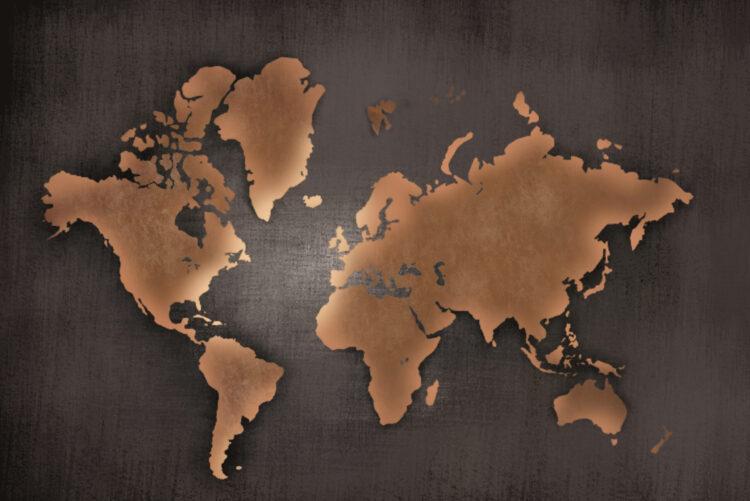 """Schilderij """"Robuuste wereldkaart"""""""