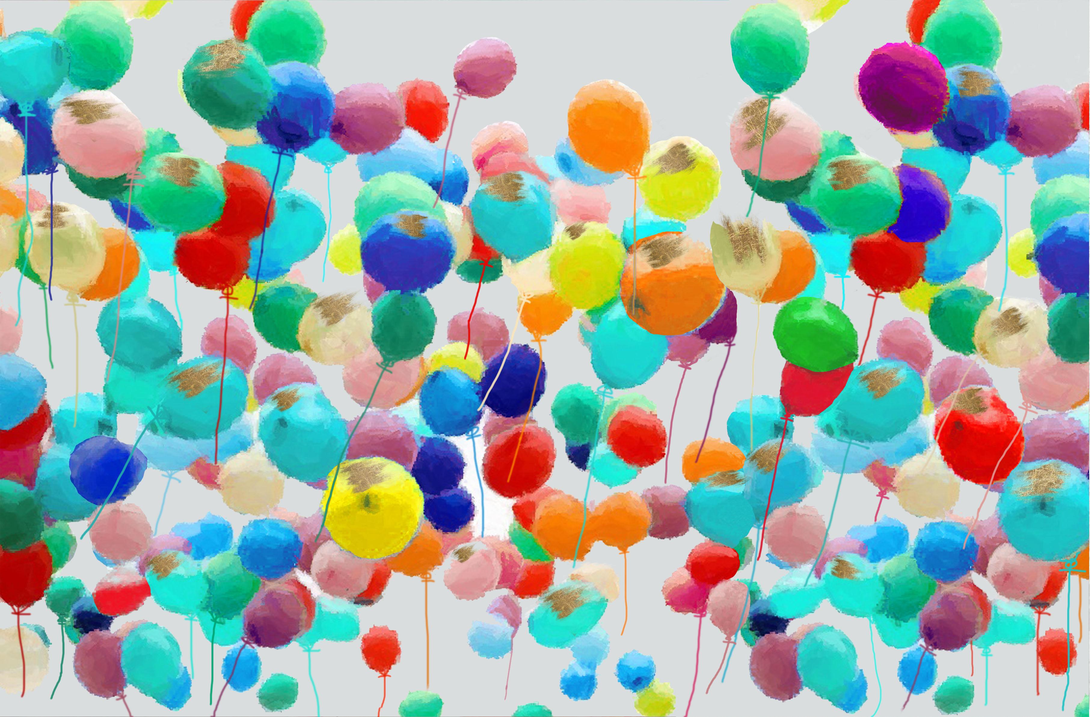 36381 ballonnen schilderij kunstwerk Ea-BB01
