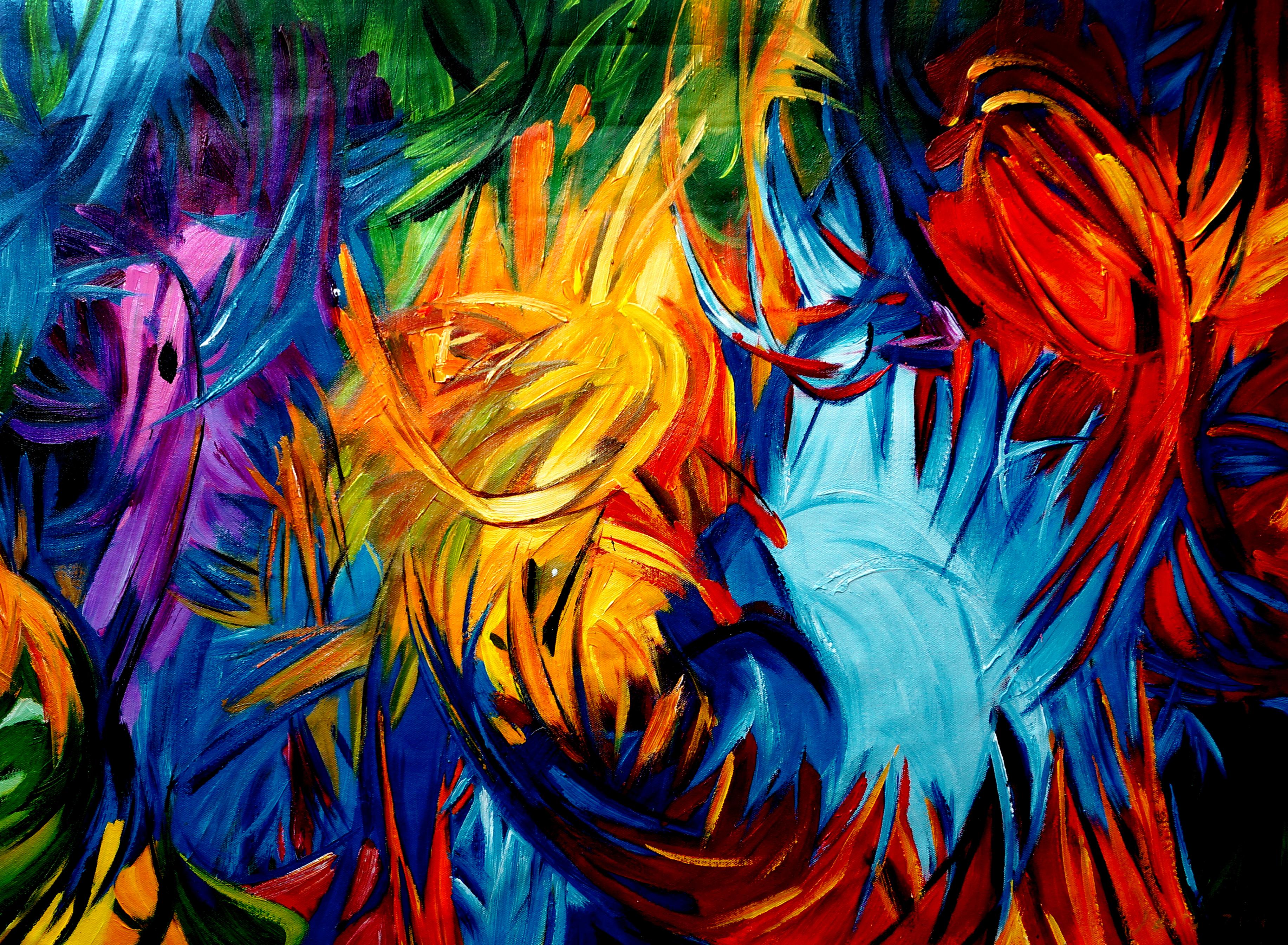 Kunstwerk Warto abstract schilderij EA-WA01