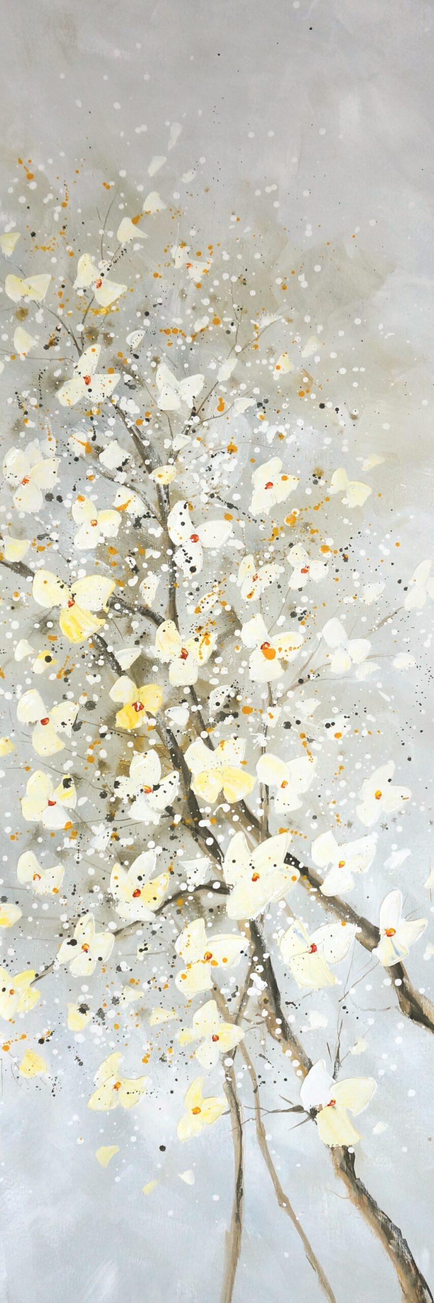 73054 schilderij White blossom kunstwerk