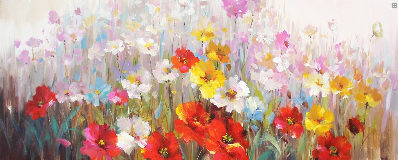 Bloemen zee schilderij p1171