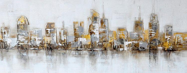 """Schilderij """"Uitzicht over de stad"""""""