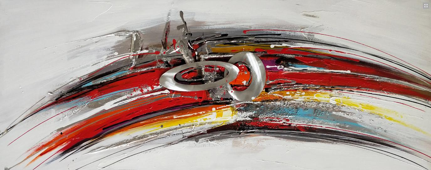 abstract en cirkels schilderij p1082