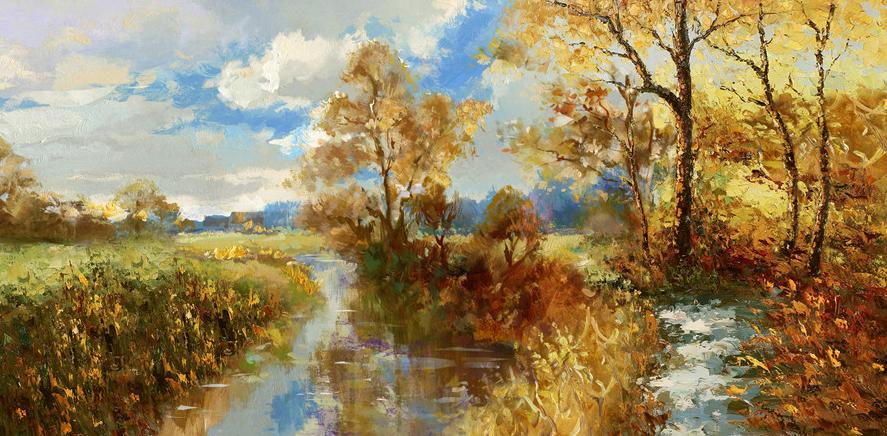 bosbeekje schilderij y4140