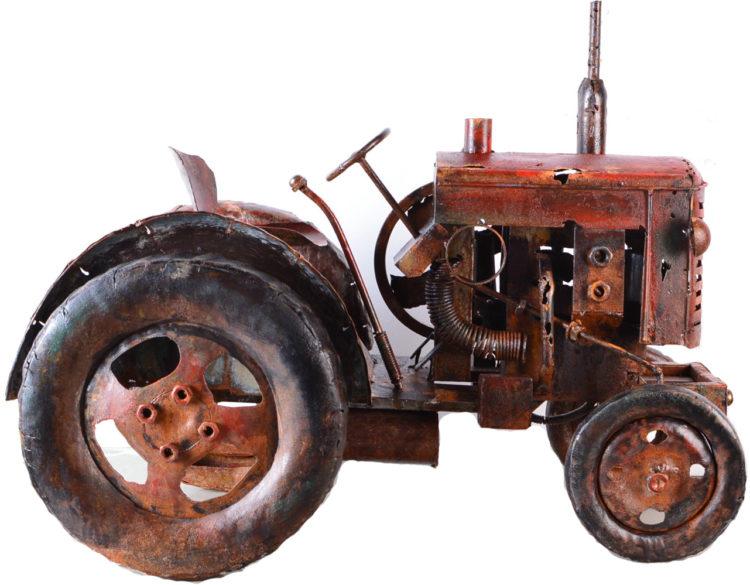 Metalen traktor