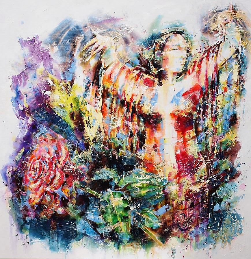 Schilderij Carmen - Piet Kouwenhoven - kunst