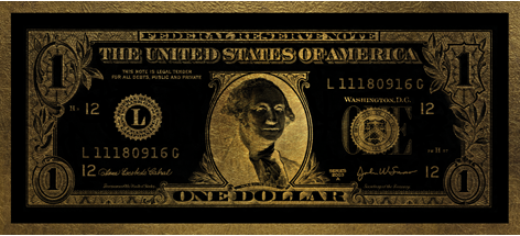 One Dollar Washington gold