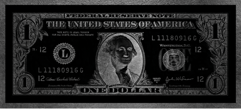 One Dollar Washington Parelmoer