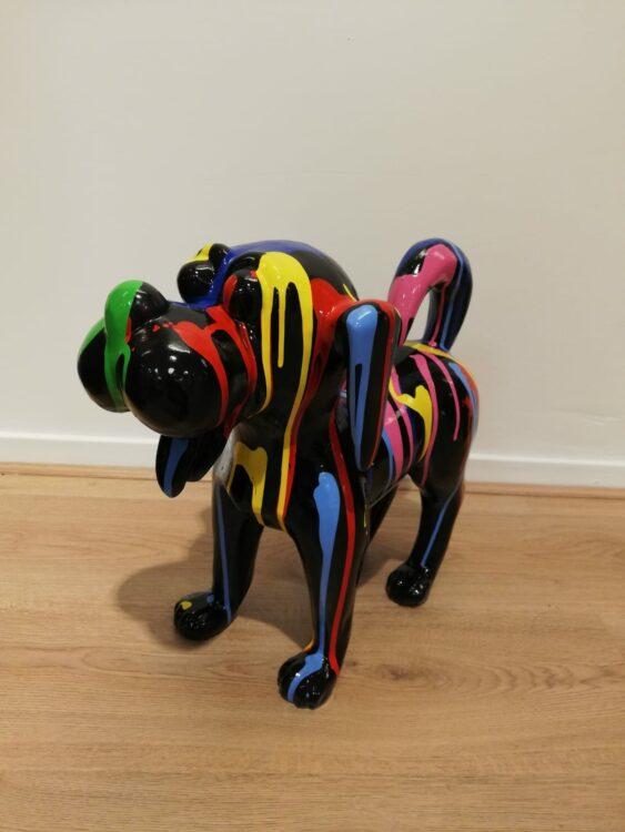 Hondje dripping beeld kleurrijk