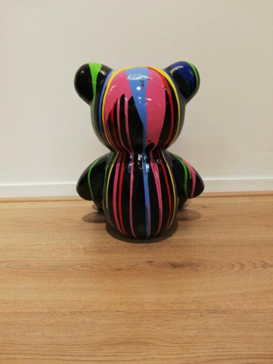 Beeld Teddy dripping kleurrijk
