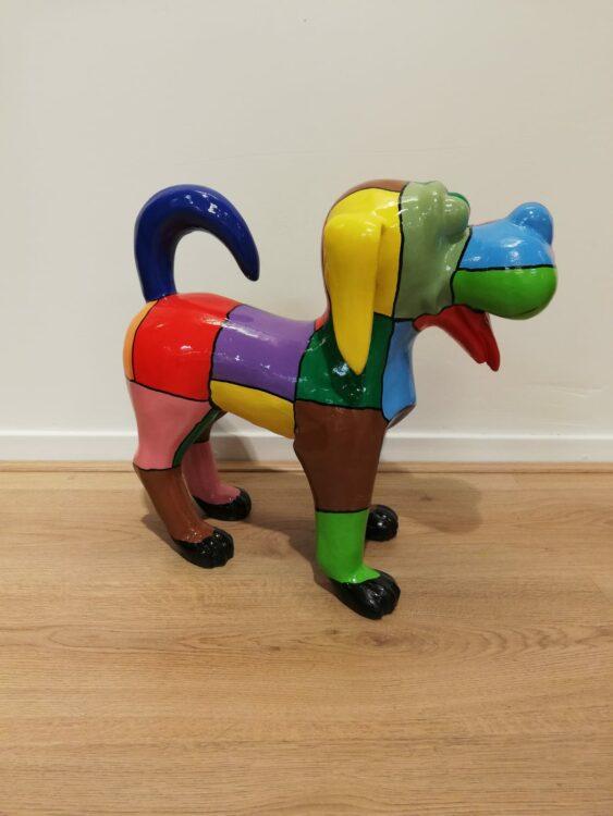 Hondje bohemian beeld kleurrijk