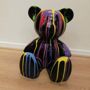 Teddy Dripping Zwart