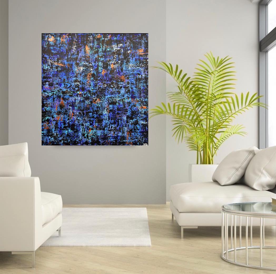 baran. interieur, kunstwerk Fracnes Eckhardt shilderij abstract