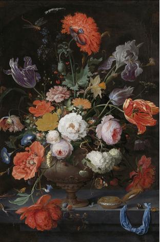 1043180 Stillleven bloemen kunst alu art