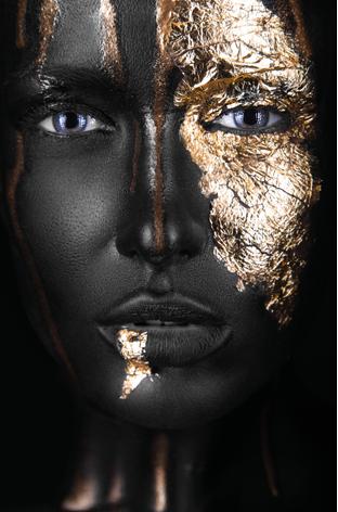 Dark skinned woman