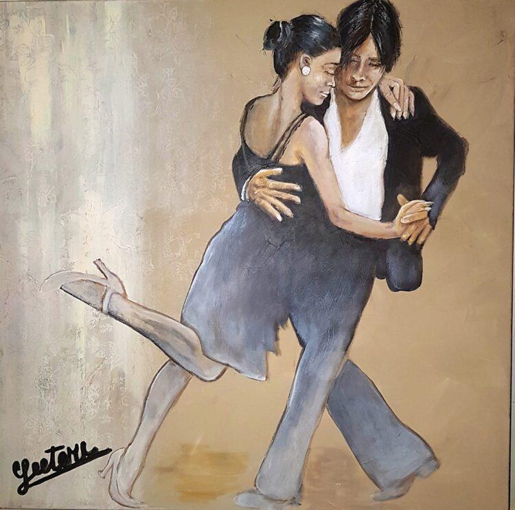 """Schilderij """"Latin dancing"""""""