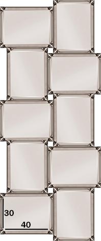 Spiegel Pearl Vakjes (brons)