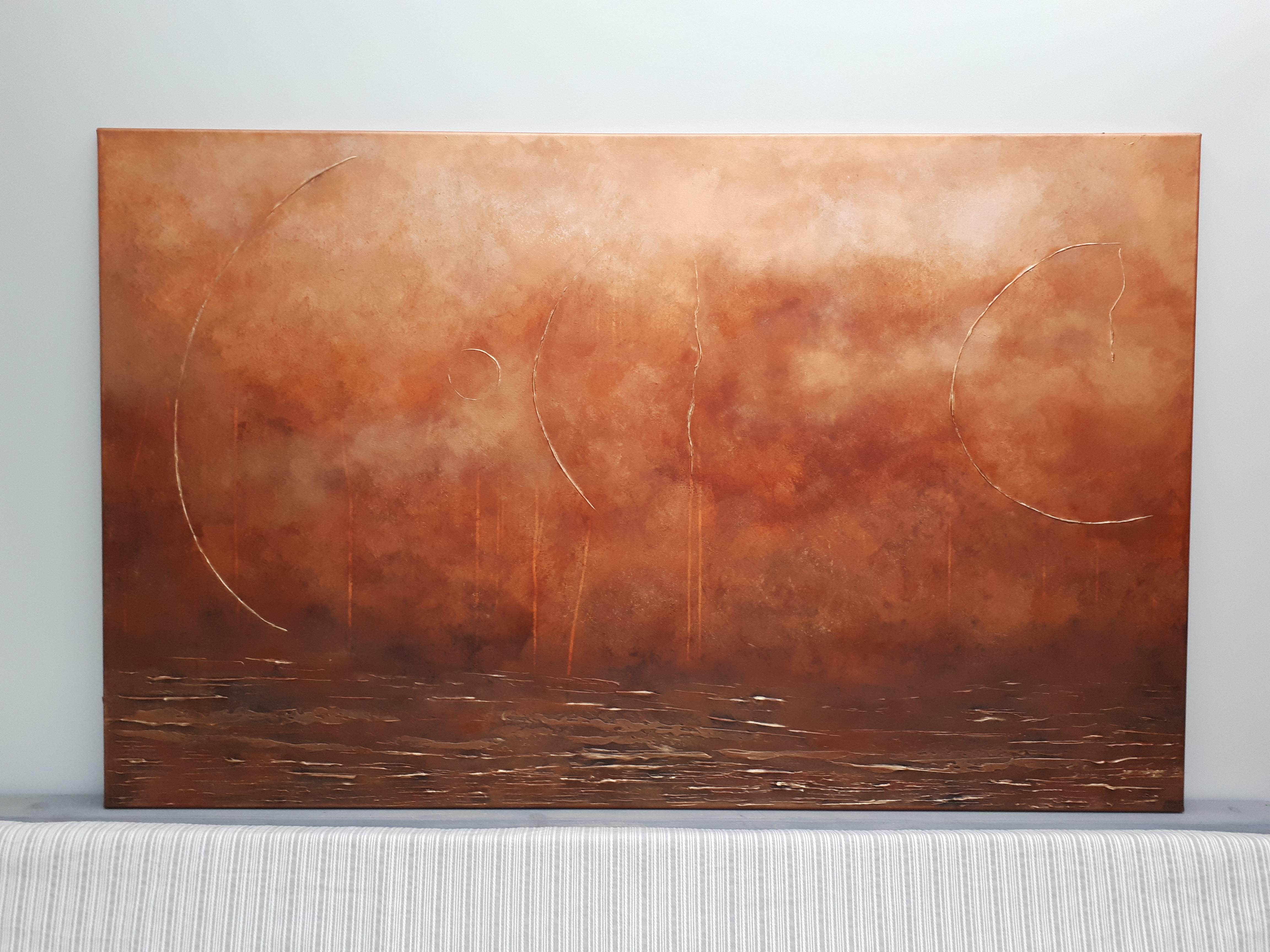 Kunstwerk Orlando Frances Eckhardt FE11 abstract schilderij
