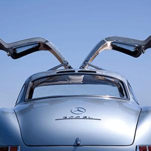 Mercedes Benz Gullwing doors