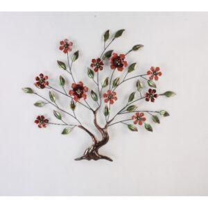 Metalen boom met bloemen
