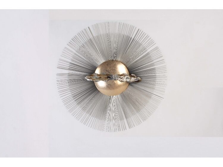 "Metalen wanddecoratie ""Cloudy Sun"""