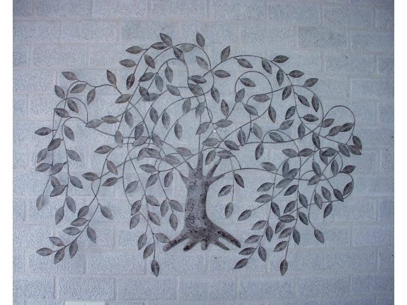 FM-32420 treurwilg kunstwerk wanddecoratie muur kunst