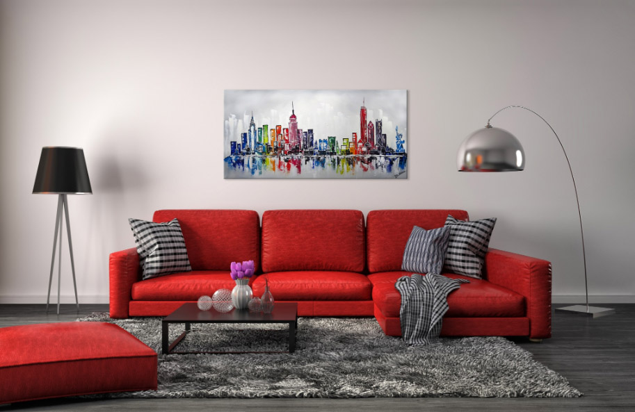New York skyline interieur schilderij