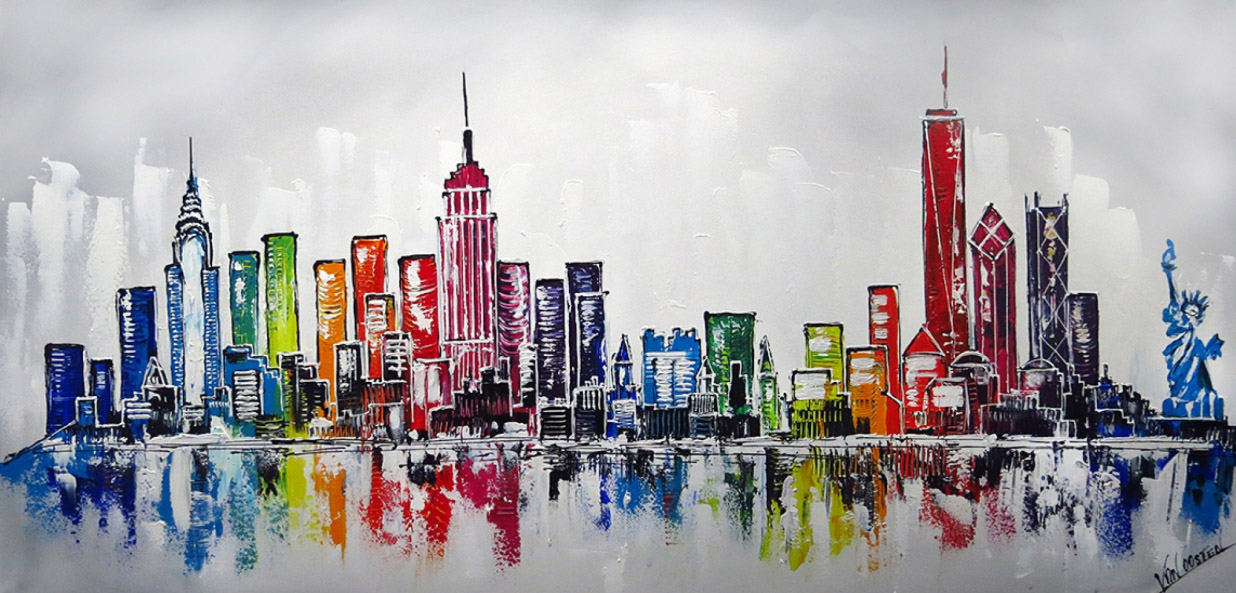 New York skyline schilderij