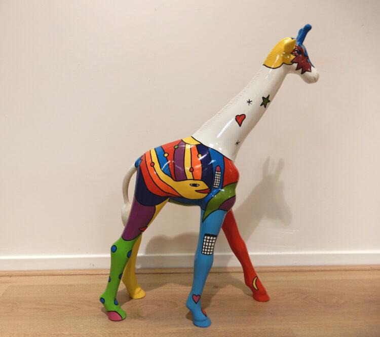 Kleurrijke giraffe