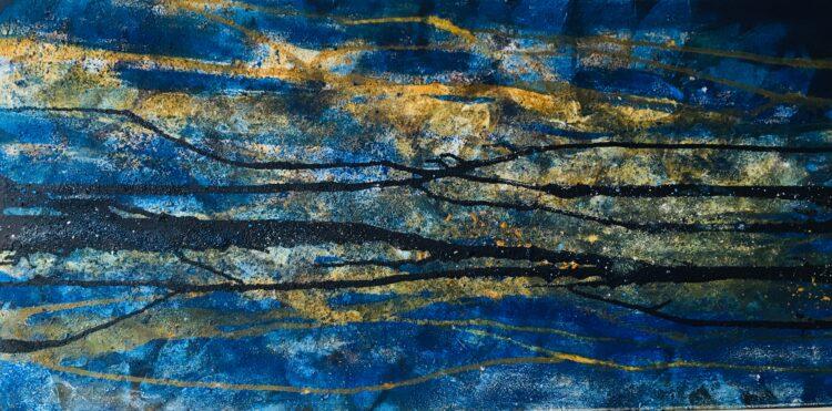 """Schilderij """"Blue Lagoon"""""""