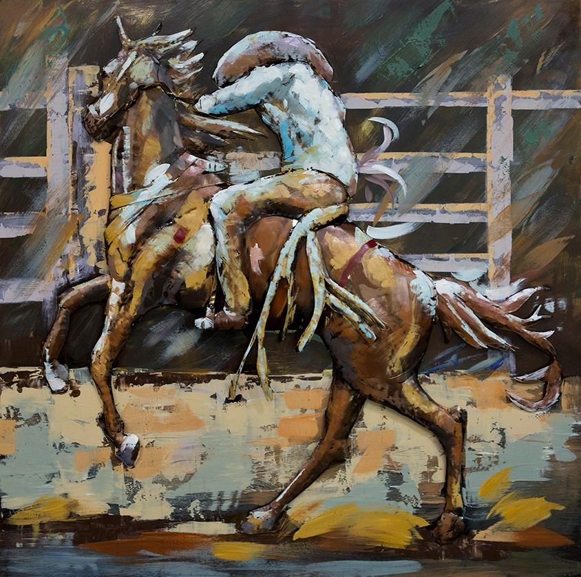 Cowboy man metalen schilderij 614