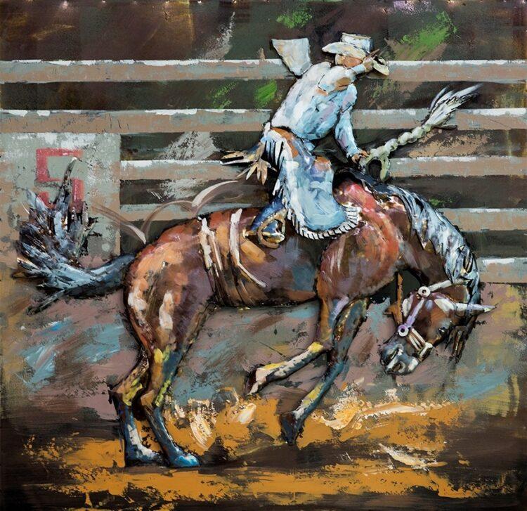 """Metalen schilderij """"Cowboy"""""""