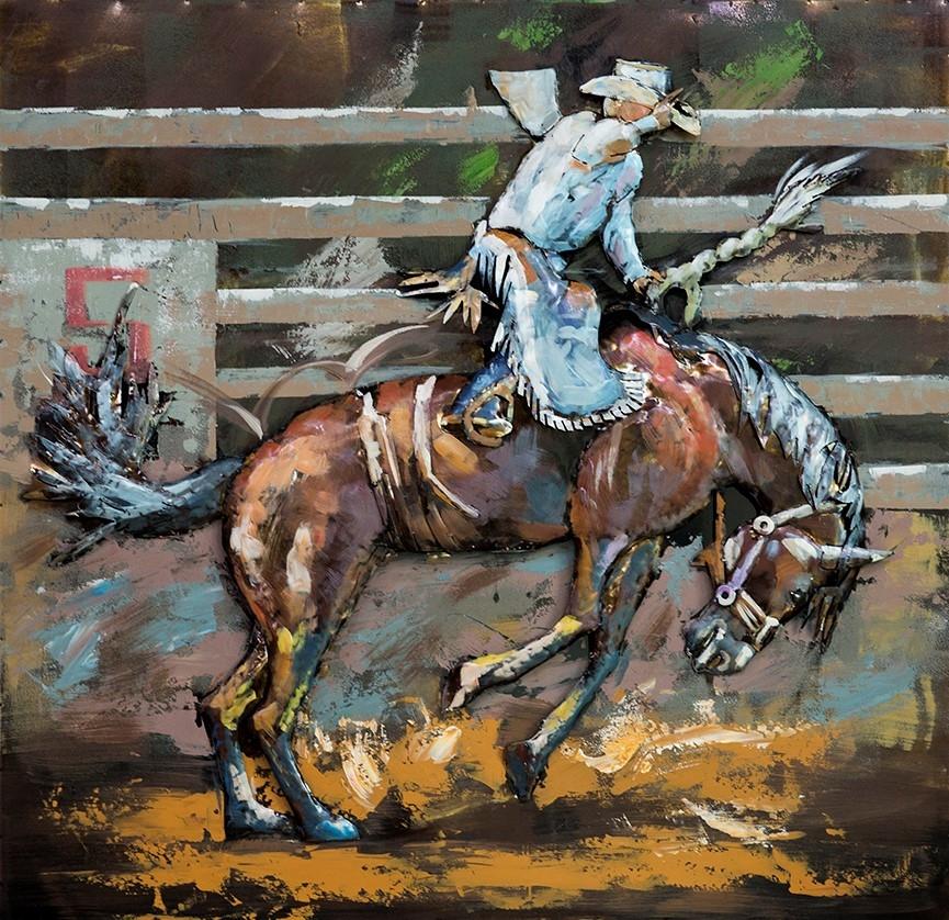 Cowboy metalen schilderij 613