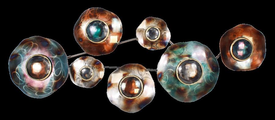 Metalen wanddecoratie Ocular