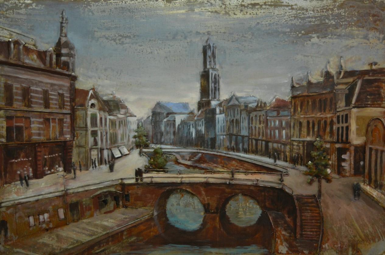 Utrecht metalen schilderij 927