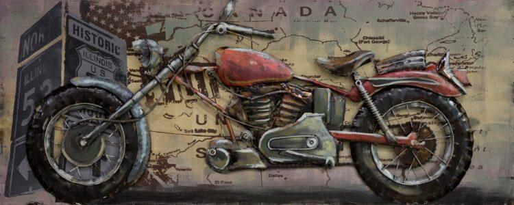 """Metalen schilderij """"Metalen motor"""""""