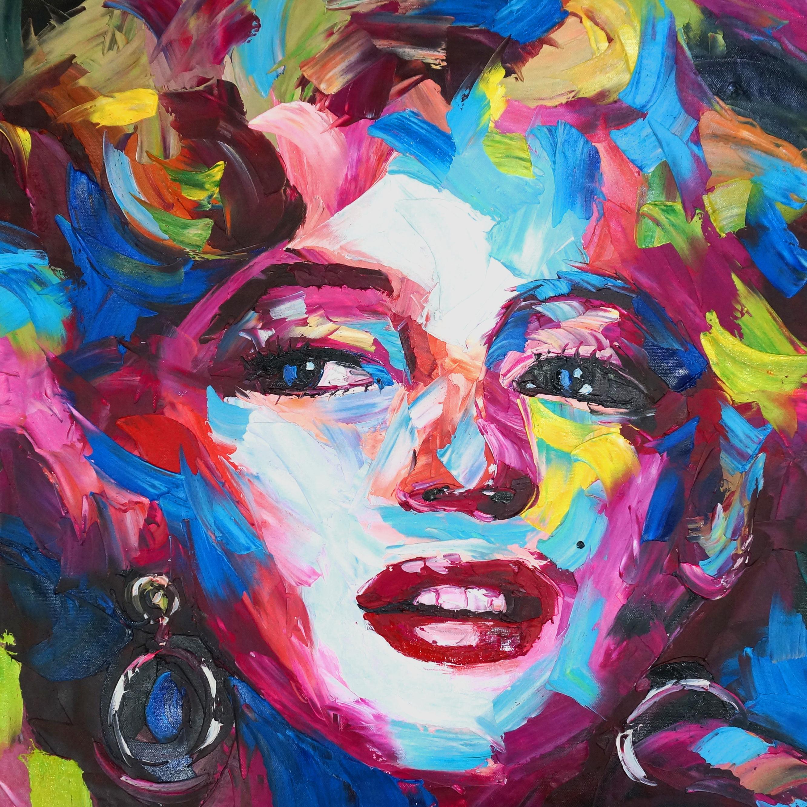 10PopArt01 kleurrijke marilyn schilderij palet