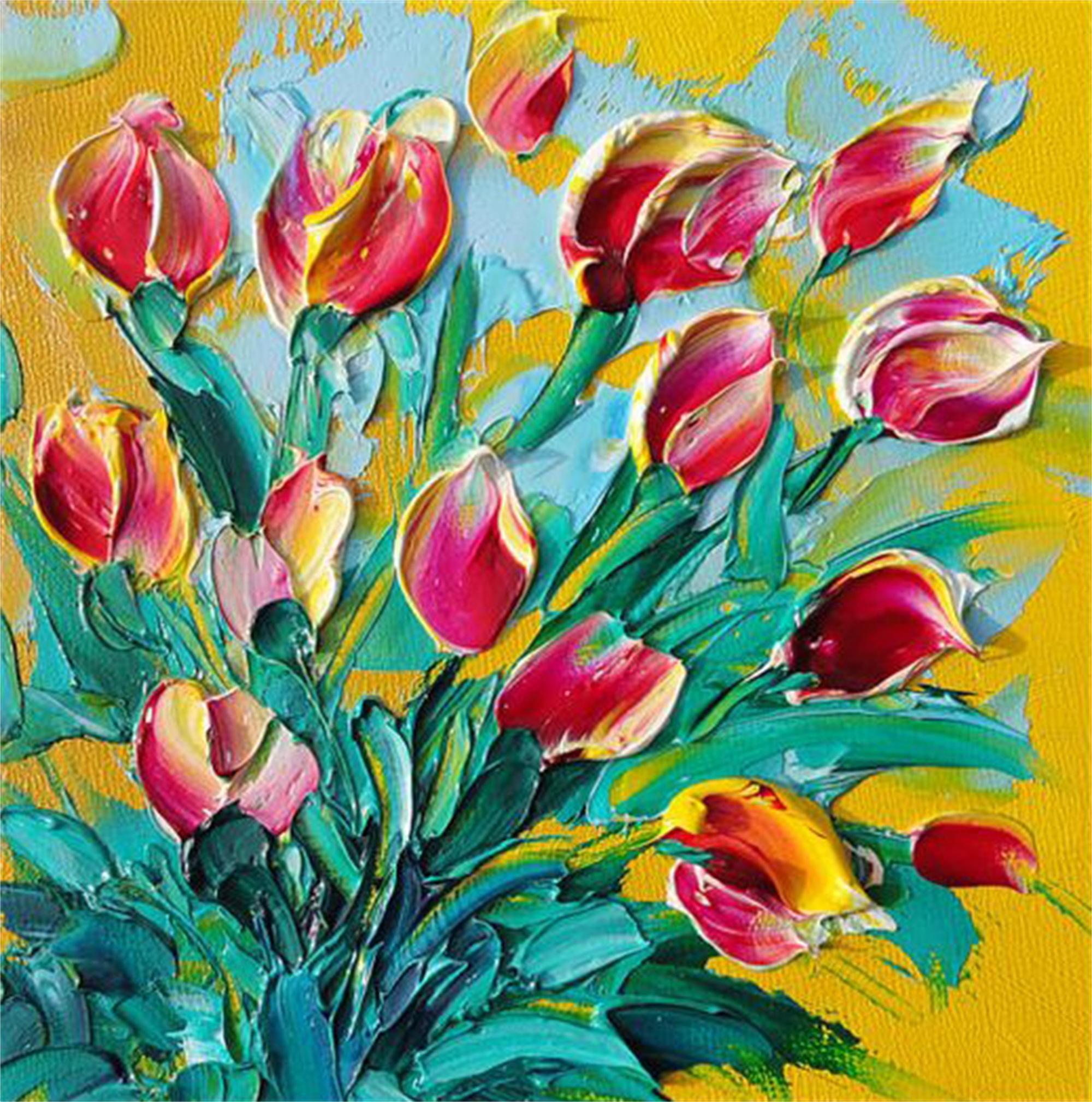 10flower13 Lente! schilderij palet