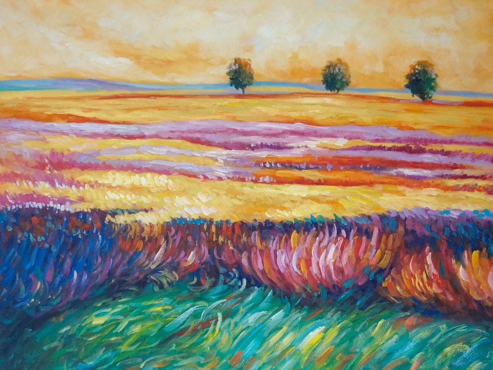 36K332 schilderij provence palet