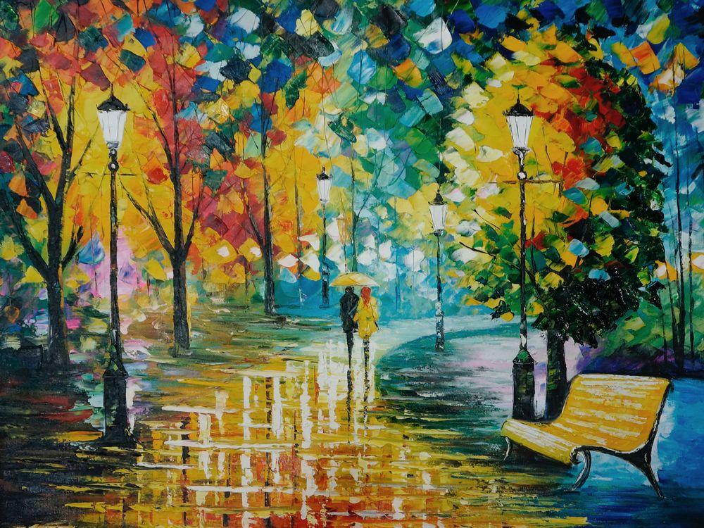 36K388 wandeltocht schilderij palet