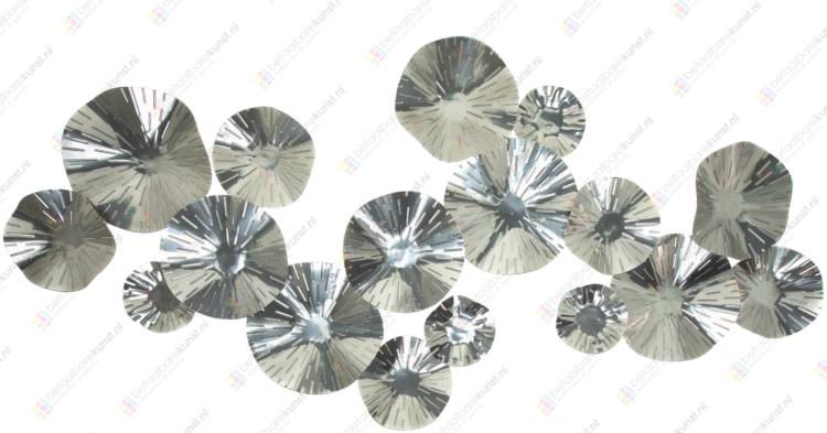 """Metalen wanddecoratie """"Silver Circles"""""""