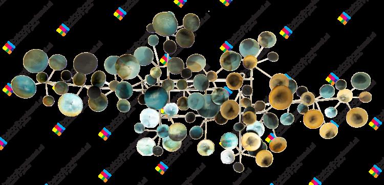 """Metalen wanddecoratie """"Kleurrijke stipjes"""""""